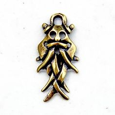 Odin charm / pendant in the Viking style, peraperis, etsy.com