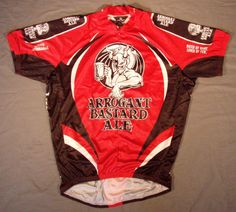 Canari Stone Brewing Arrogant Bastard Cycling Jersey Road Bike Beer T Shirt  Tee  Canari Beer 92a16d974