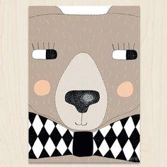 invitation inspiration Big Bear A3 Print by seventytree on Etsy, £25.00