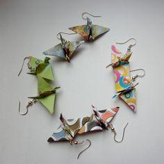 Origami bird earrings £2.50 by The Crafty Warren