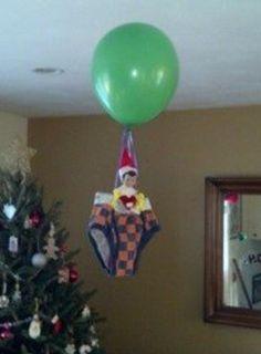 Hot air balloon elf on a shelf