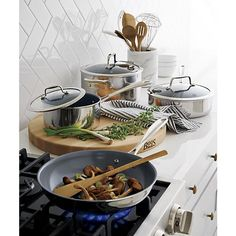 Keep your kitchen functional and stylish. Elegantly organize kitchen utensils with the French Kitchen Marble Utensil Holder, a Crate & Barrel exclusive. Kitchen Utensil Holder, Cooking Utensils, Kitchen Utensils, Kitchen Utensil Organization, Ceramic Non Stick, Kitchen Wall Colors, French Kitchen, Cookware Set, Jars