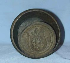 Pineapple Butter Mold, Large and Vintage, Lathe Turned and Primitive