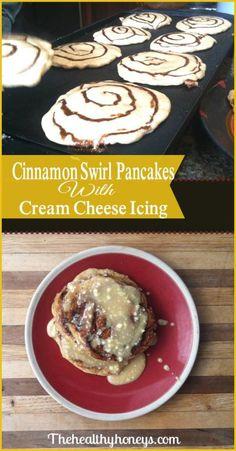Cinnamon Swirl Pancakes Real Food Recipe - The Healthy Honeys