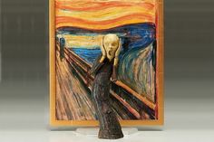 For their latest action figure, Figma turns the tortured soul in Edvard Munch's The Scream into an adorably articulated action figure. Original Artwork, Original Paintings, Le Cri, Paper Mache Clay, Tortured Soul, Edvard Munch, Cardboard Crafts, Character Modeling, Shadow Box