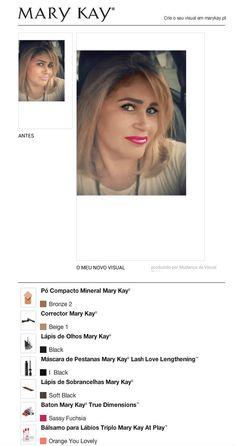 Consegui um visual novo com a Ferramenta gratuita de Mudança de Visual Virtual da Mary Kay®. Experimente também e partilhe com todos os seus amigos.