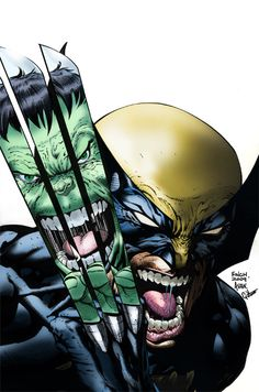 #Hulk #Fan #Art. (Wolverine Vs. Hulk) By: G45uk2. ÅWESOMENESS!!!™ ÅÅÅ+