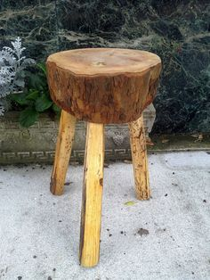 Log Stool Hand Crafted in Florida  Perfect for by furnitologist, $60.00