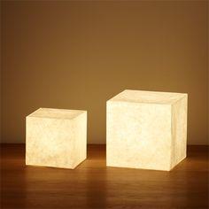 Japanese paper floor light by MUJI