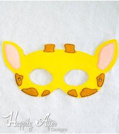 Giraffe Mask ITH Embroidery Design Felt Mask Embroidery Designs