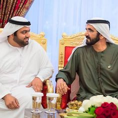 Mohammed bin Hamad bin Mohammed Al Sharqi con su suegro, Mohammed bin Rashid bin Saeed Al Maktoum, 09/06/2016. Vía: latifa.mrm