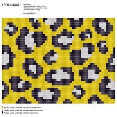 "288 Beğenme, 8 Yorum - Instagram'da Molla Mills (@molla.mills): ""Leopard pattern, work in tr/dc. Made with Molla yarns for Suomen Lanka (looks good in black'n'white…"""