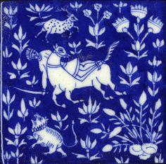 Emery & cie - Tiles - Blue Pottery- handmade ceramics tiles
