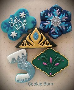 Frozen Theme Birthday Decorated Cookies