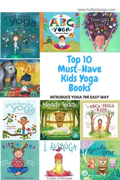 Kids Yoga Books are one of the easiest ways to introduce yoga to kids. Perfect for parents, school teachers and teachers. List of top 10 books. Night Yoga, Family Yoga, Yoga Books, Yoga Breathing, Baby Workout, Mindful Parenting, Yoga For Kids, Yoga Quotes, Little My