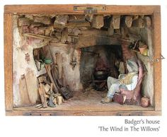 Badger's house 'The Wind in The Willows' by Sans Robinson