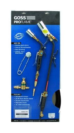 Goss KP-350QM-H Master Combo Steel Extension Torch Kit