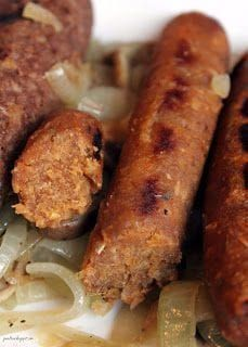healthy vegan recipes - Chickpea Sausages {vegan and gluten-free} Veggie Recipes, Whole Food Recipes, Vegetarian Recipes, Cooking Recipes, Healthy Recipes, Sausage Recipes, Grilled Recipes, Vegetarian Barbecue, Meatball Recipes