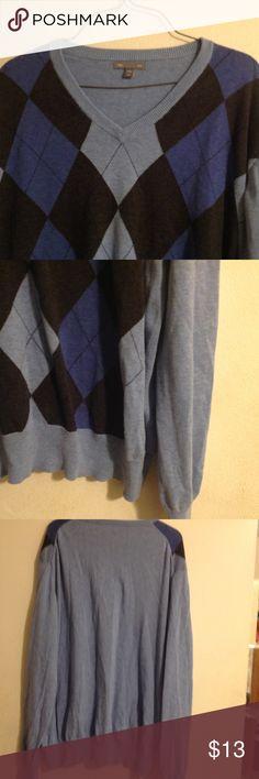 Men's Gap Argyle Sweater Stylist argyle sweater GAP Sweaters Crewneck