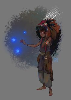 Quick after-work arts are all I seem to have time for lately. Meet Dim/Temnotka, a little carpathian witch. It's been a while since I treated myself to dark curls and floating glowing orbs of ?, ex...
