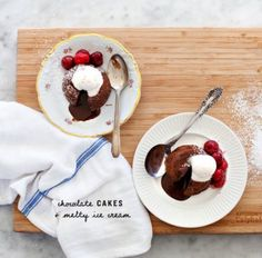 march '17 - loved! // Valentine's Molten Chocolate Cakes Recipe - Love and Lemons