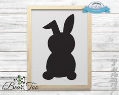 Rabbit SVG Black Clipart Bunny Drawing Vector Cut Files for Cricut and Silhouette or Printing How To Make Stickers, Clear Stickers, Making Stickers, Bear Clipart, Bunny Drawing, Vector File, Handmade Art, As You Like, Planner Stickers