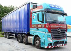 https://flic.kr/p/MmEV8n | Mercedes Actros 6x2 Pollock  Curtain Box Edinburgh T1PSL Frank Hilton IMG_7945