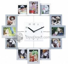 Photo Collage Frame Hanging Wall Clock