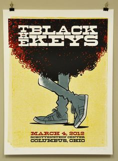 Andy Jenkins, LImited Edition Black Keys Show Poster. Commissioned by the Black Keys. Tour Posters, Band Posters, Music Posters, Event Posters, The Black Keys, Norman Rockwell, Monet, Expressive Art, Concert Posters