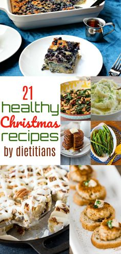 Looking for healthy Christmas or holiday recipes? This awesome roundup has TWENTY-ONE healthy holiday recipes by dietitians you will LOVE! Healthy Meals To Cook, Healthy Diet Recipes, Healthy Food, Healthy Christmas Recipes, Winter Recipes, Cooking For A Group, Winter Food, Winter Holiday, Eat Seasonal