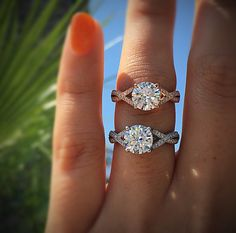 rose gold vs white gold engagement rings, what cold metal is your favorite when it comes to deciding on your engagement ring setting?