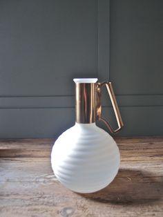 Retro milk glass pitcher / Found