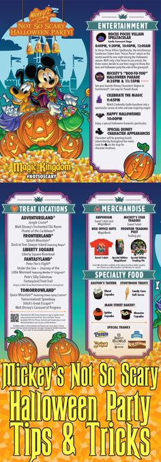 Dates & costume rules now available for this year's Mickey's Not So Scary Halloween Party!