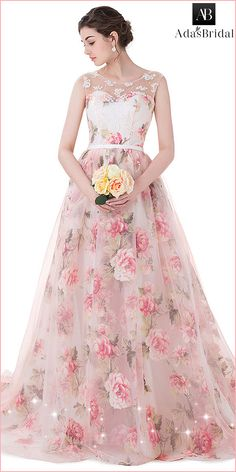 Wonderful Organza & Floral Cloth Scoop Neckline Ball Gown Prom Dresses With Lace Appliques & Beadings