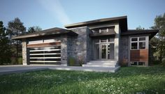 Our Bungalow models One Story Homes, Dream House Exterior, New Home Designs, Modern House Plans, Facade House, Cottage Homes, Contemporary Architecture, New Homes, House Design