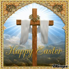 Holy Cross Happy Easter Animated Quote easter happy easter easter gifs easter greetings easter quotes and sayings easter wishes Happy Easter Gif, Happy Easter Wallpaper, Happy Easter Wishes, Happy Easter Sunday, Happy Easter Greetings, Happy Easter Photos, Easter Religious Pictures, Easter Images Jesus, Easter Sunday Images
