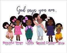 Black Love Art, Black Girl Art, Black Is Beautiful, Black Girl Magic, Black Girls Rock, Beautiful Family, Beautiful Things, Clipart, Afro Ponytail