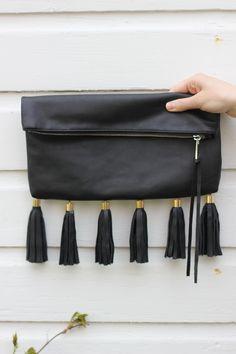 #DIY Knockoff Fringe Bag. Save $$$ and make your own Rebecca Minkoff clutch.