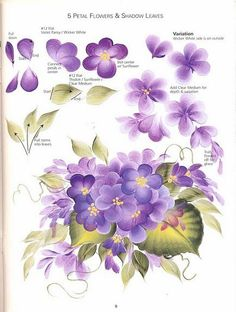 Donna Dewberry One Stroke Painting Patterns Free Fabric Painting, Painting & Drawing, Donna Dewberry Painting, Tole Painting Patterns, One Stroke Painting, China Painting, Painting Lessons, Drawing Lessons, Easy Paintings
