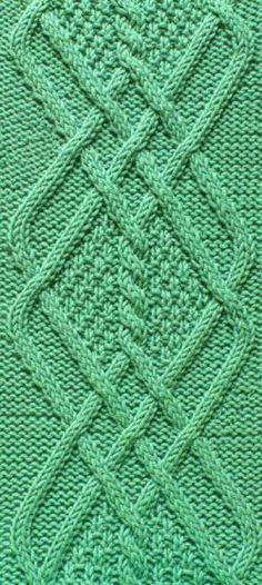 Punto rombos trenzas tejido http://tejidogratis.com/65-puntos-tejidos/trenzas/849-punto-rombos-trenzas-tejido-9.html