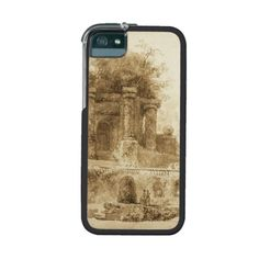 Roman Park with Fountain by Jean-Honore Fragonard iPhone 5 Case