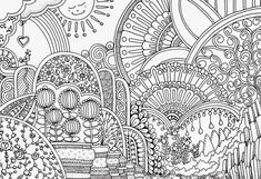 Adult Coloring Pages, Line Drawing, All Design, Art Sketches, Doodles, Watercolor, Drawings, Cards, Handmade