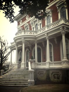 Hay House, Macon, GA. Dream Home Design, House Design, Southern Architecture, Southern Porches, Plantation Homes, Historic Homes, Victorian Homes, Abandoned Places, Old Houses
