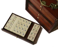 Chinese Mahjong Set, Shanghai, 1920s - Decorative Collective Antiques Online, Selling Antiques, Mahjong Set, Pull Out Drawers, Red Dragon, House Numbers, Saved Items, Shanghai, 1920s