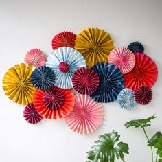 Make a beautiful custom art piece for your home with just paper and a simple fan technique.
