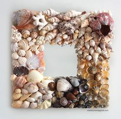 Handmade seashell mirror
