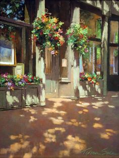 Teresa Saia artist Howard Mandville Gallery in Kirkland Pastel Landscape, Urban Landscape, Landscape Art, Landscape Paintings, Paintings I Love, Beautiful Paintings, Art Paintings, Dappled Light, Pastel Art