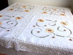 Vintage Irish Linen Tablecloth