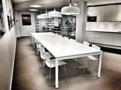 Roxtec Norway - from A to Z - kitchen area Front Design, Design Projects, Norway, Conference Room, Kitchen, Table, Furniture, Home Decor, Cucina