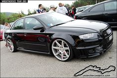 Black Audi RS4 on Vossen wheels | Flickr - Photo Sharing!